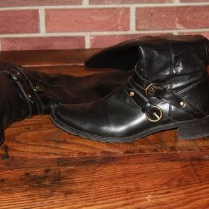Black Paul Green Riding Boots